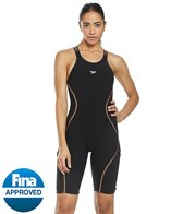 Speedo Women's Fastskin LZR Pure Intent Open Back Kneeskin Tech Suit Swimsuit