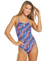 Arena Women's Spirograph Reversible Challenge Back One Piece Swimsuit