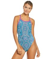 Arena Women's Snake Skin Challenge Back One Piece Swimsuit