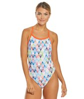 Arena Women's Linear Triangle Challenge Back One Piece Swimsuit