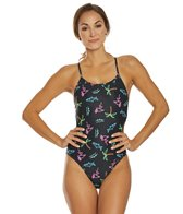 Arena Women's Neon Lights Reversible Challenge One Piece Swimsuit
