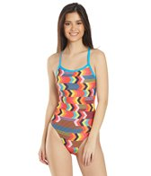 Arena Women's Geocentric Challenge Back One Piece Swimsuit