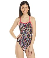 Arena Women's Cheetah Heat Challenge Back One Piece Swimsuit