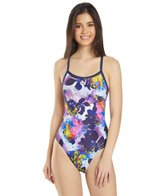 Arena Women's Glow Floral Challenge Back One Piece Swimsuit