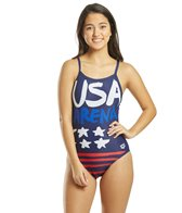 Arena Women's Country Flags Light Drop Back One Piece Swimsuit