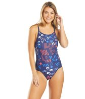 Arena Women's Blue USA Superfly Back One Piece Swimsuit