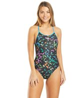Arena Women's Multicolor Palms Accellerate Back One Piece Swimsuit