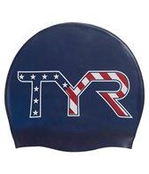 TYR Stars and Striped Silicone Swim Cap