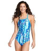Speedo Women's Print Crossback One Piece Swimsuit