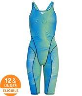 Speedo Women's Print Vanquisher Kneeskin Tech Suit Swimsuit