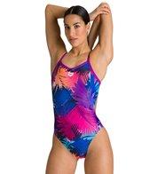 Arena Women's Palm Print MaxLife Challenge Back One Piece Swimsuit