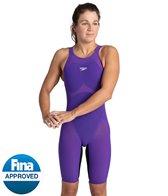 Speedo Women's Fastskin LZR Pure Valor Closed Back Kneeskin Tech Suit Swimsuit