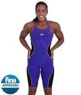 Speedo Women's Fastskin LZR Pure Intent Closed Back Kneeskin Tech Suit Swimsuit