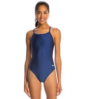 Dolfin Competition Team Solid V-2 Back One Piece Swimsuit