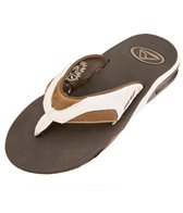 Reef Guys' Leather Fanning Flip Flop