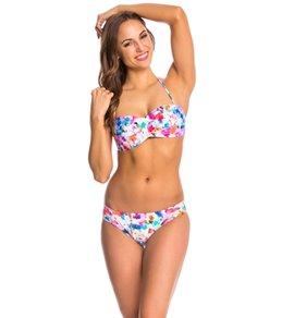 Kenneth Cole Cabana Cutie Pleated Bandeau Bikini Top