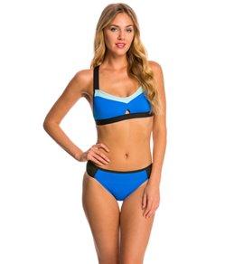 La Blanca Technicolor Cross-Back Bikini Top