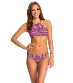 Jessica Simpson Swimwear Mojave High Neck Halter Bikini Top