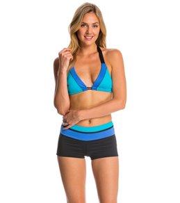 Swim Systems Block Party Blue Triangle Bikini Top