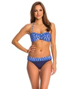 Anne Cole Indigo Tide Twist Bandeau Bikini Top