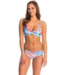 Sunsets Island Heat Wrap Bikini Top (D/DD Cup)