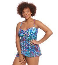 Empire Seam Plus Size Swimwear