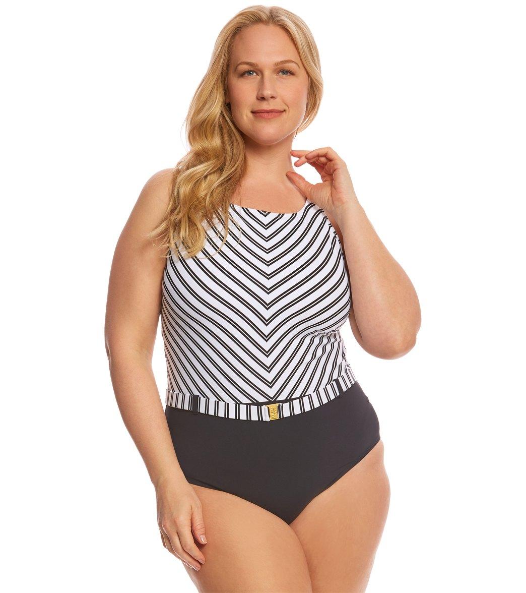 Low Waist Plus Size One Piece Swimsuit
