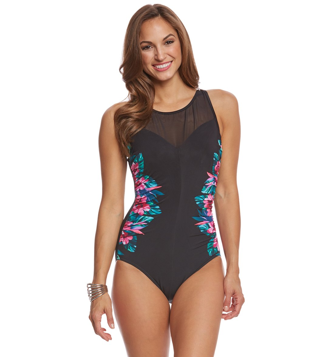 MiracleSuit High Neck side pattern swimsuit