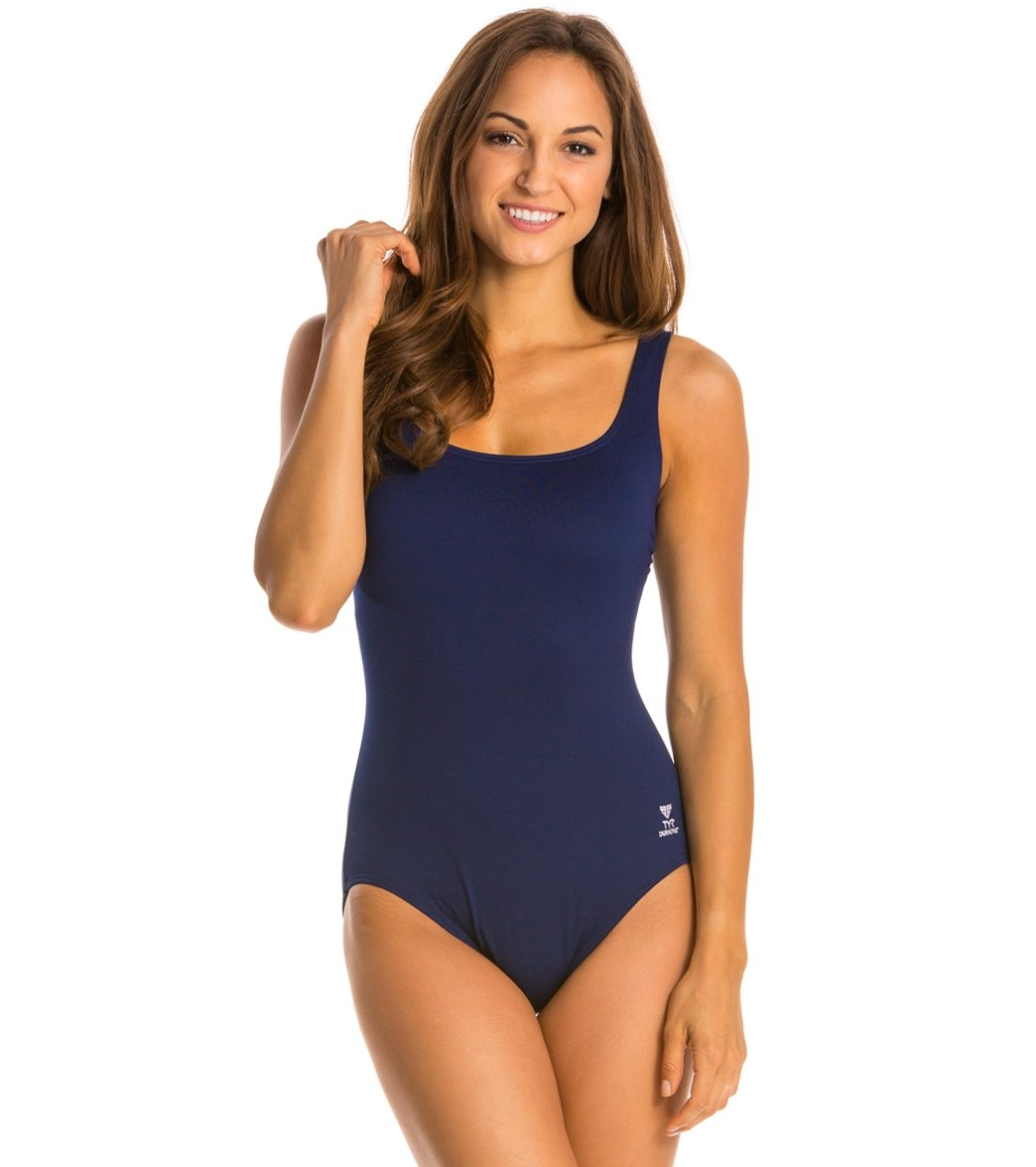3f9fa9792f8f2 TYR Solid Aqua Controlfit One Piece Swimsuit