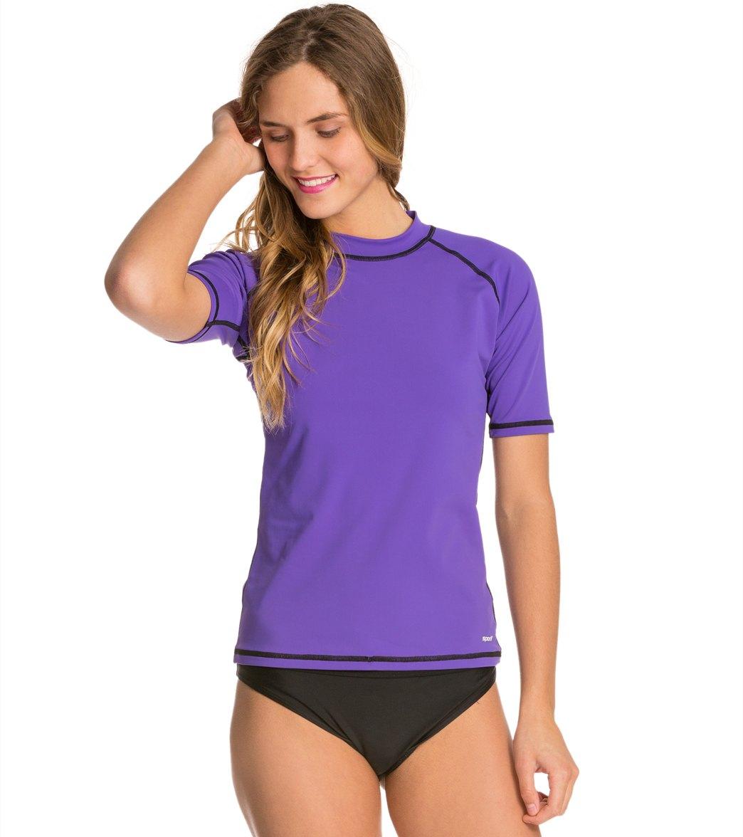 Designer Exercise Clothes For Women Over 50 Sporti Women s S S Swim Shirt