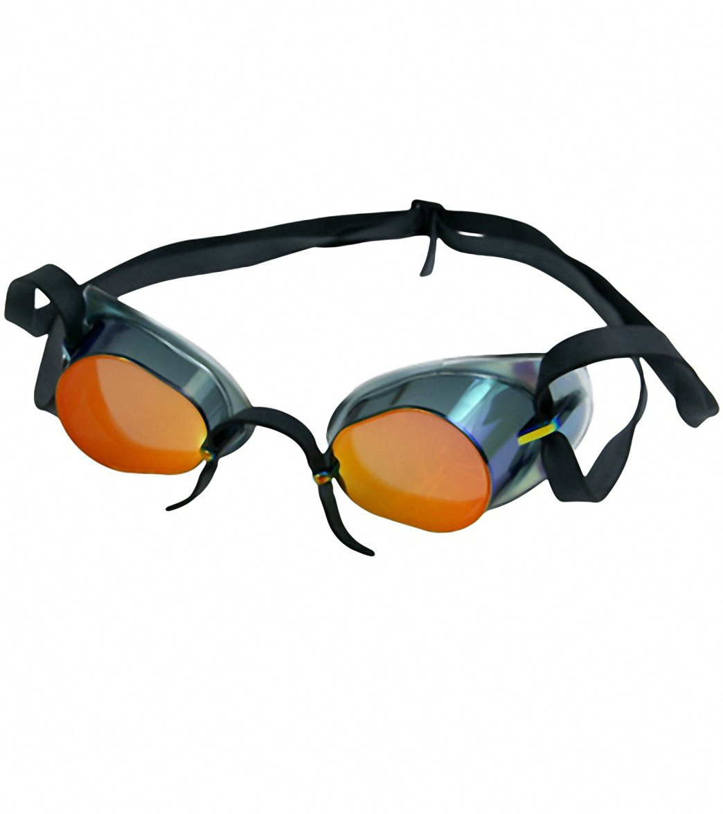 swimming goggles that fit over glasses avt8  TYR Socket Rocket Metallized Goggle