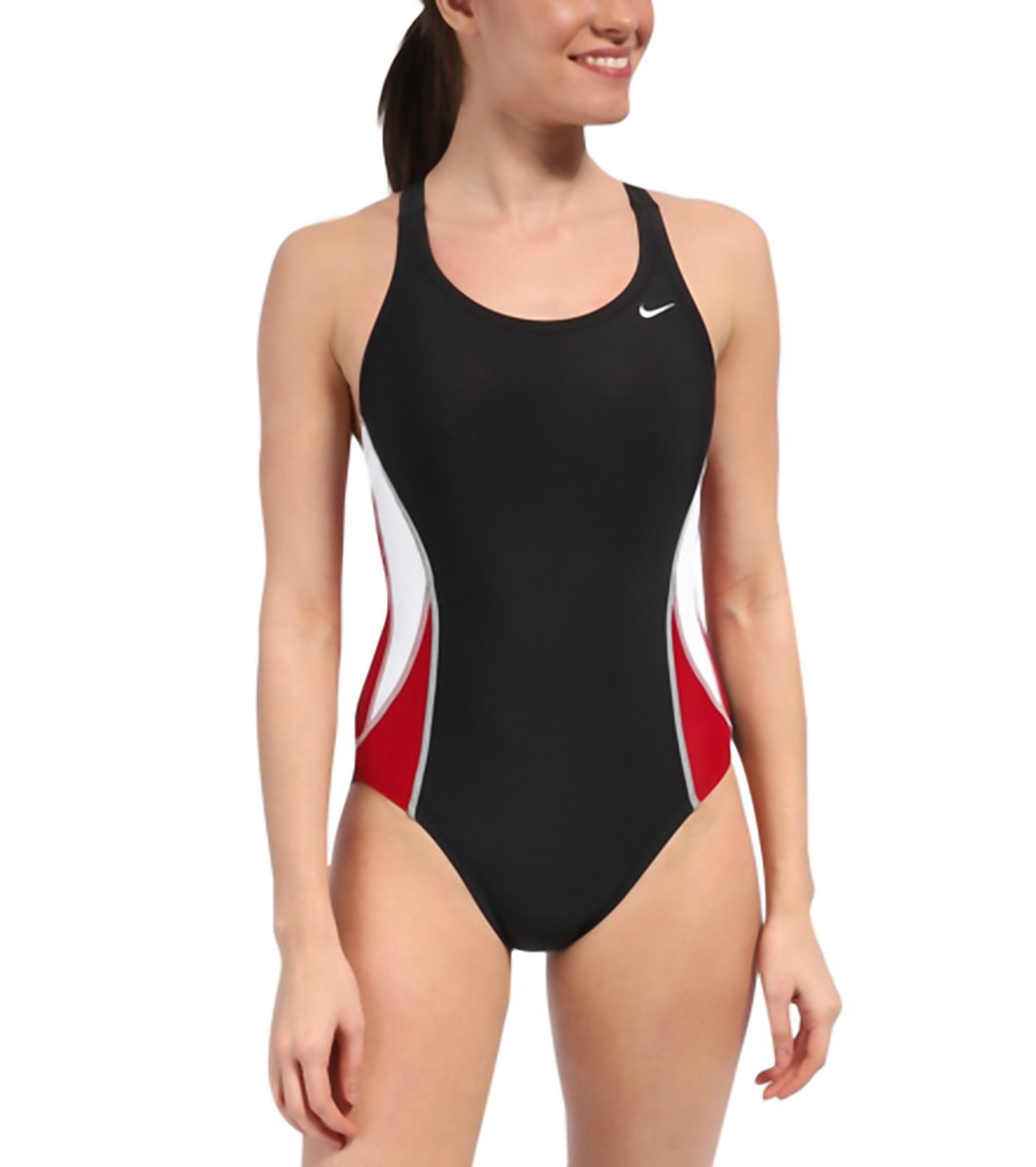 Nike Victory Color Block Power Back  Tank Swimsuit