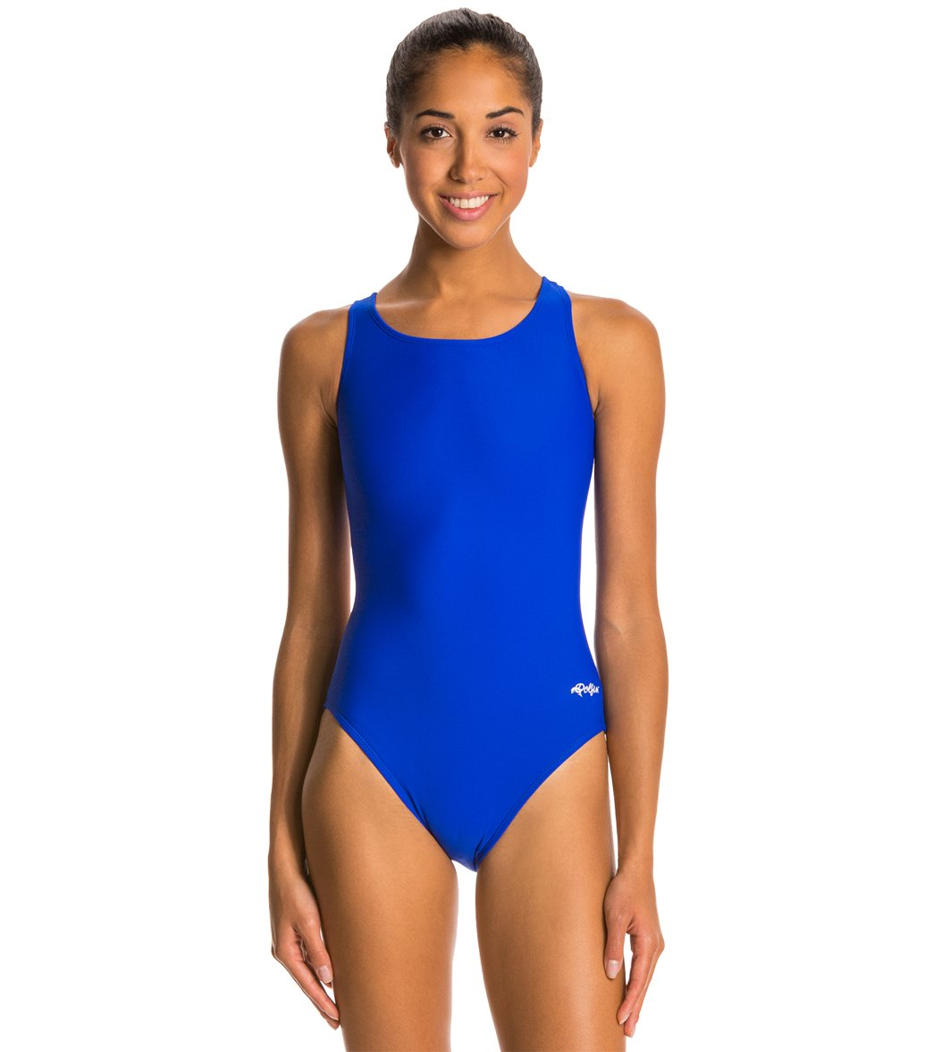 Dolfin Xtra Life Lycra Solid HP Back One Piece Swimsuit at SwimOutlet.com