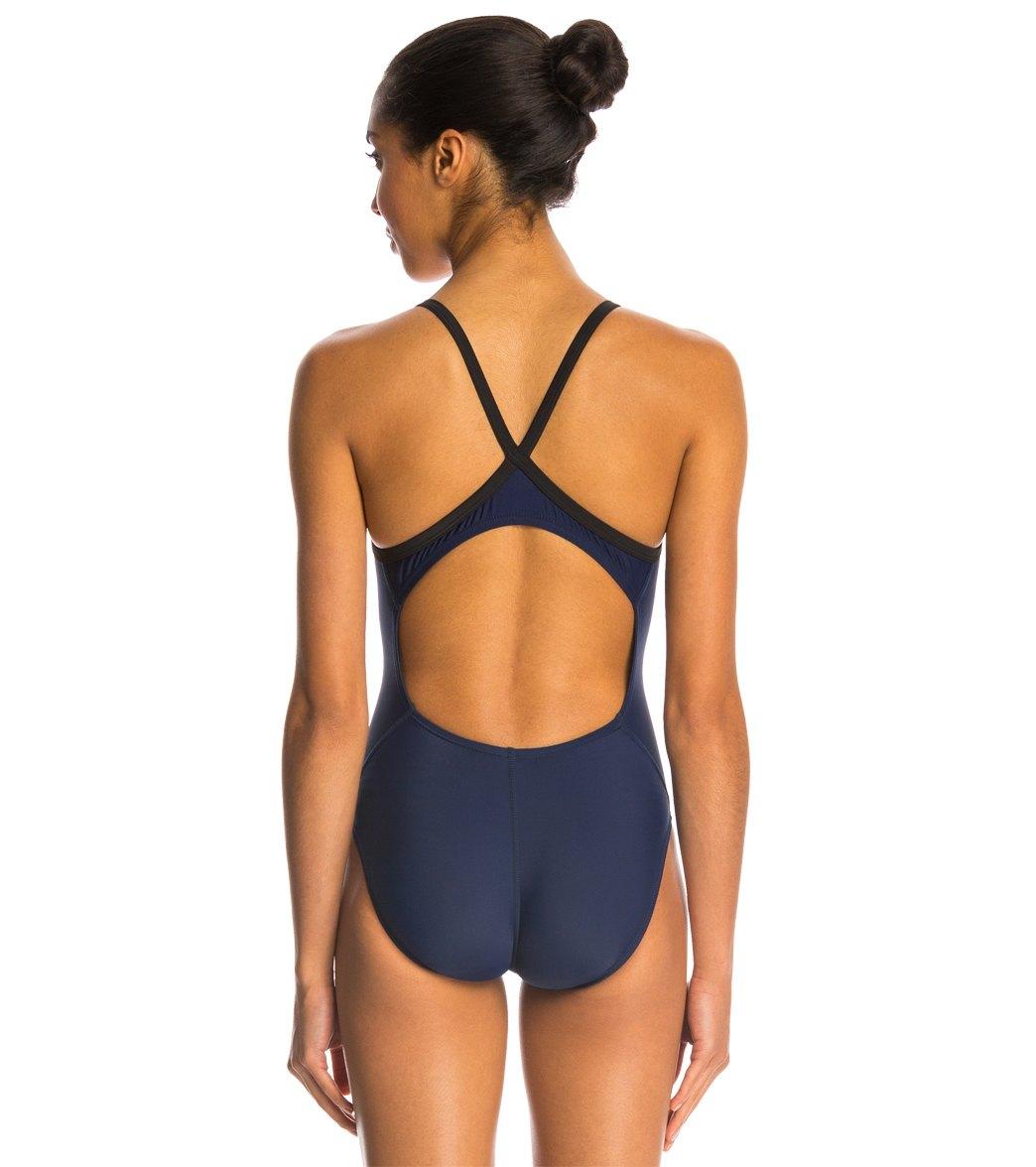 Nike Swim Nylon Core Solids Lingerie Tank One Piece Swimsuit Fast ...