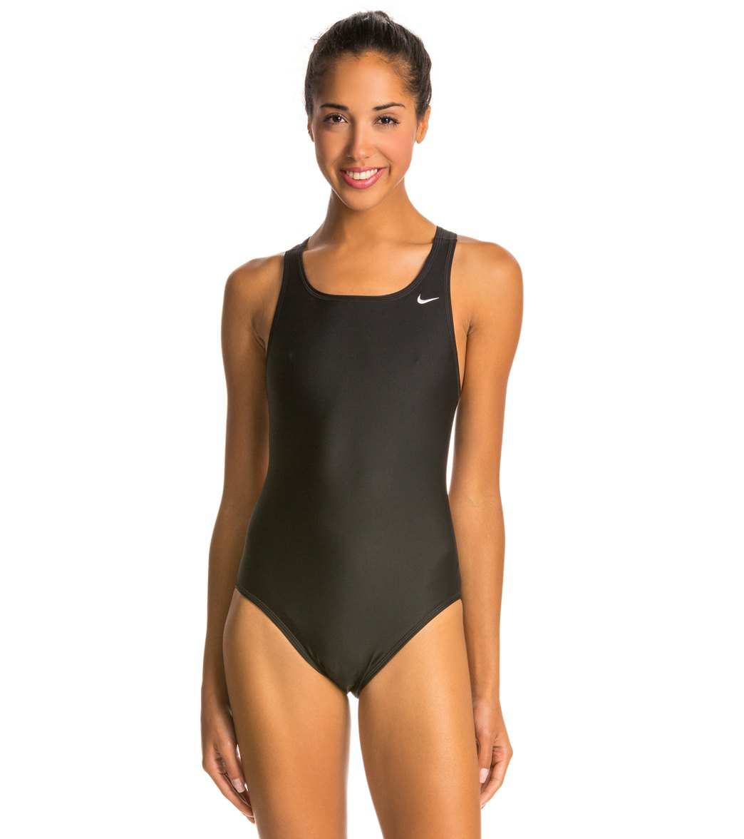 Nike Swim Nylon Core Solids Fast Back Tank Swimsuit at SwimOutlet.com -  Free Shipping
