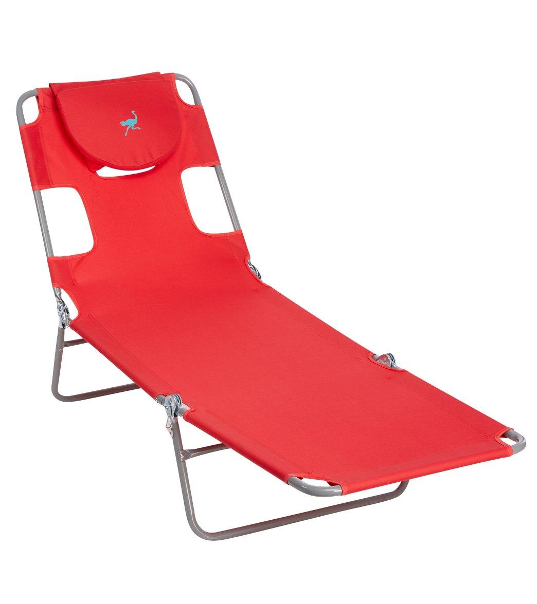 Beach lounge chairs - In Beach Chairs Ostrich Face Down Chaise Lounge