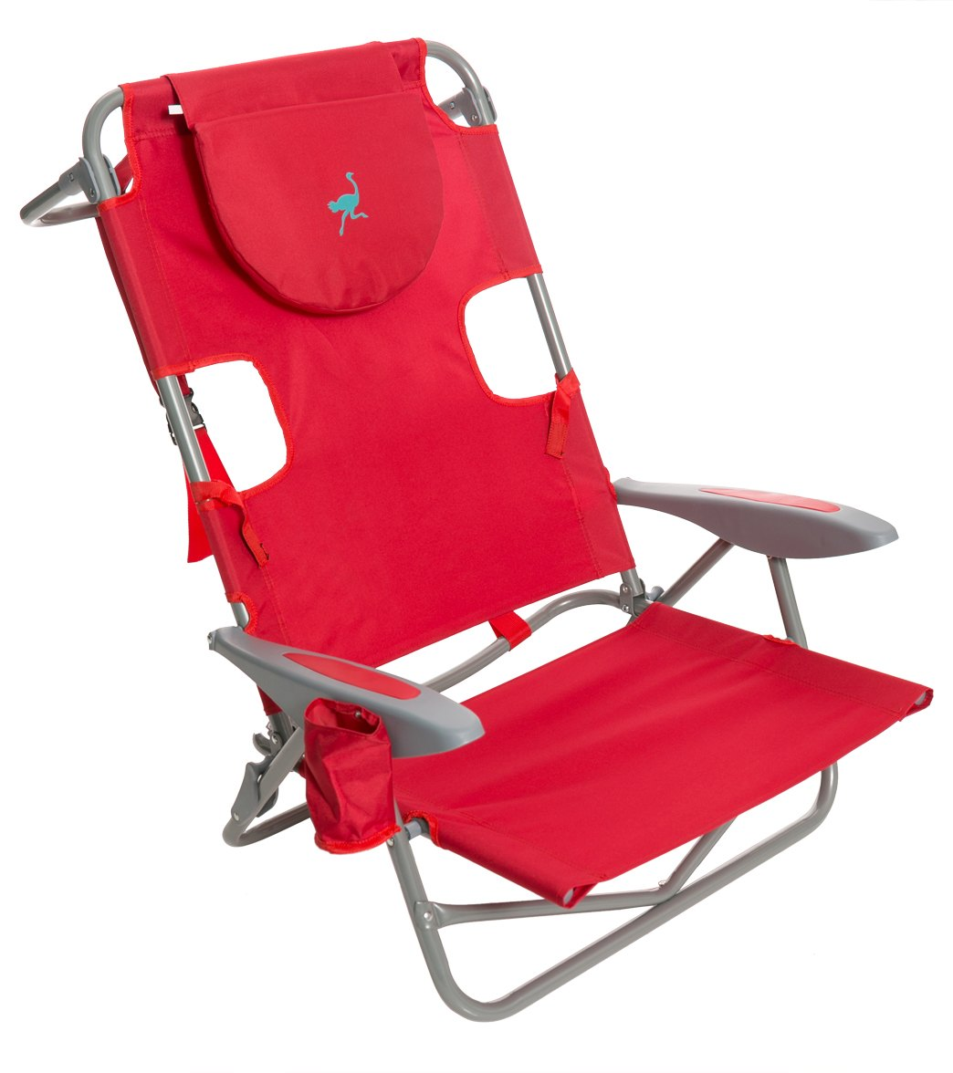 Wearever backpack chair - Ostrich Face Down Beach Chair W Backpack Straps At Swimoutlet Com Free Shipping