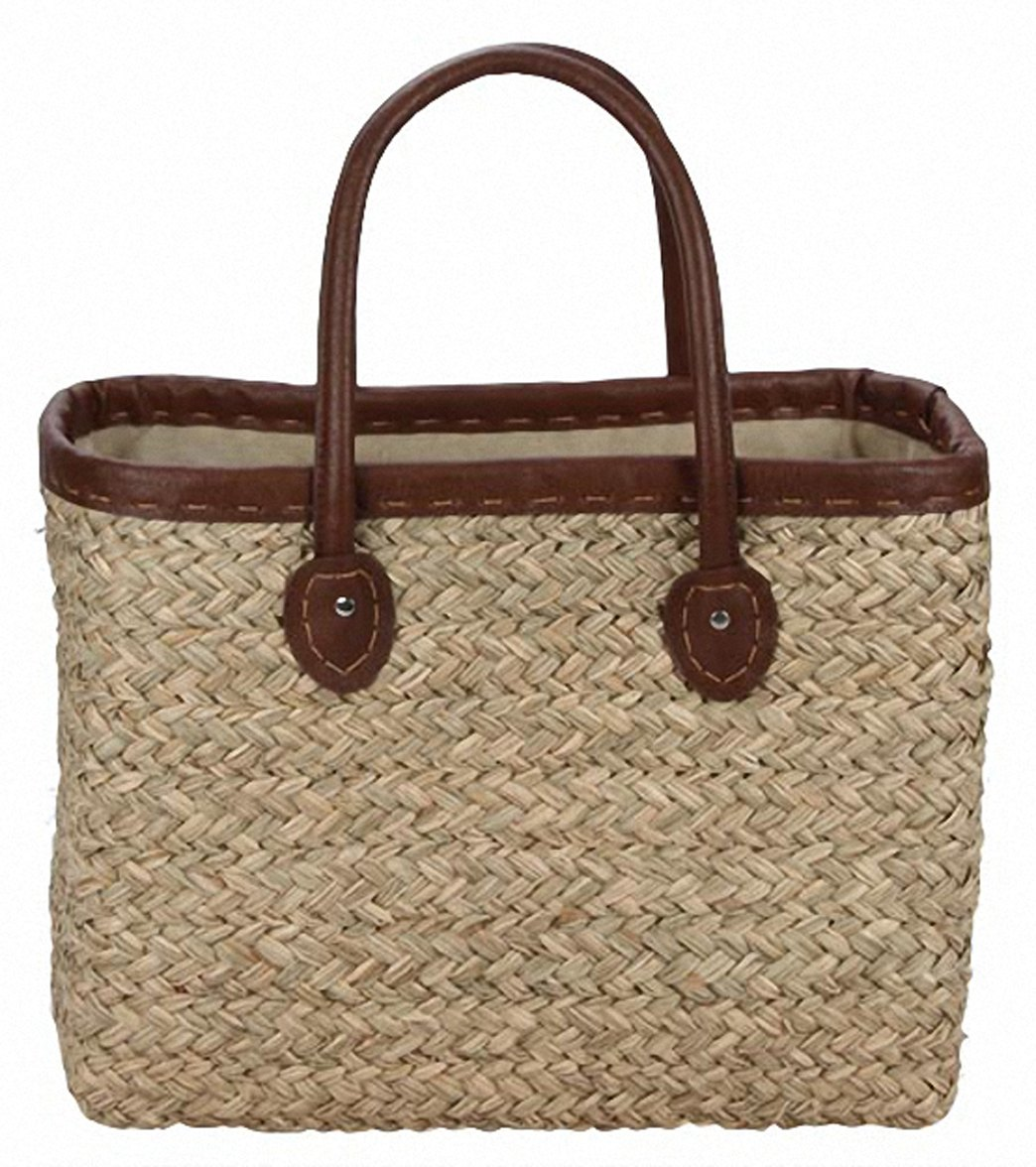 Sun N Sand Woodland Hue Straw Square Tote Beach Bag at SwimOutlet.com