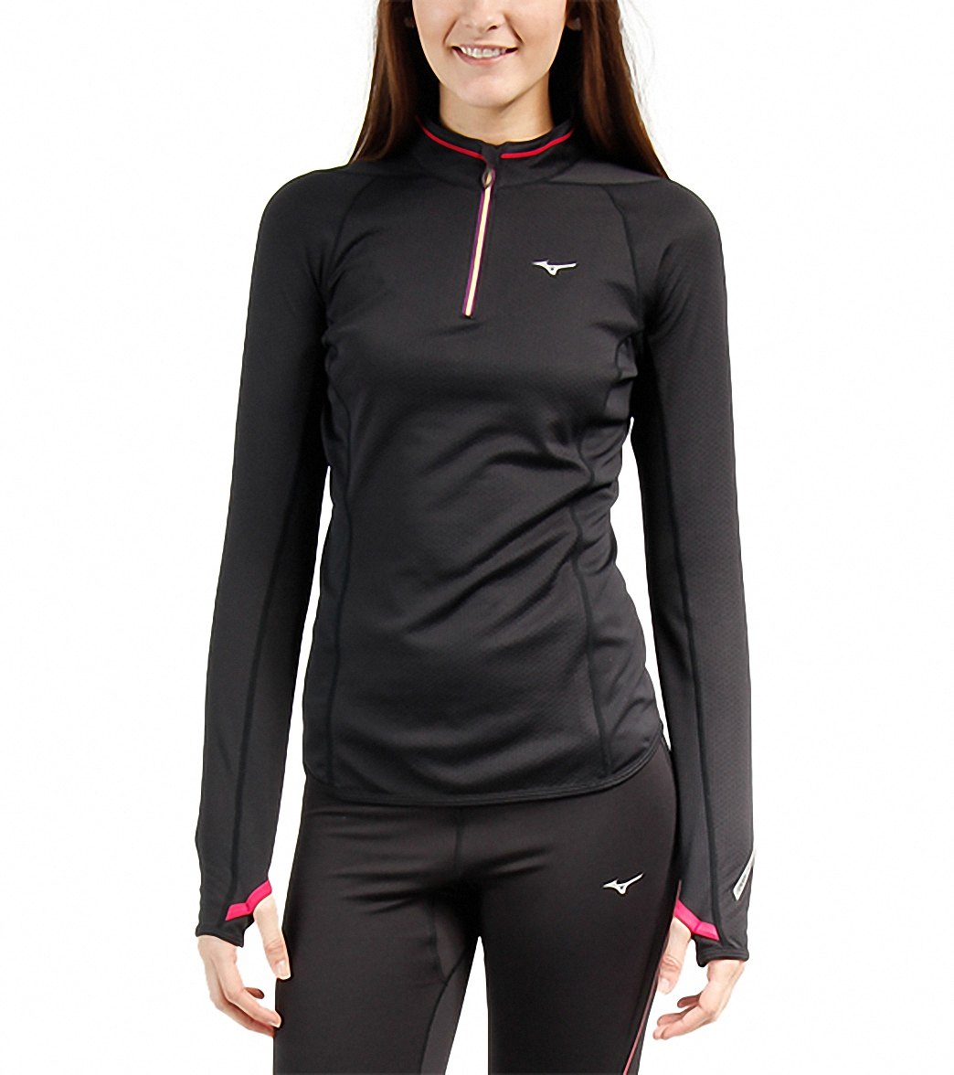 Mizuno Women's Breath Thermo Running Half Zip at SwimOutlet.com - Free  Shipping