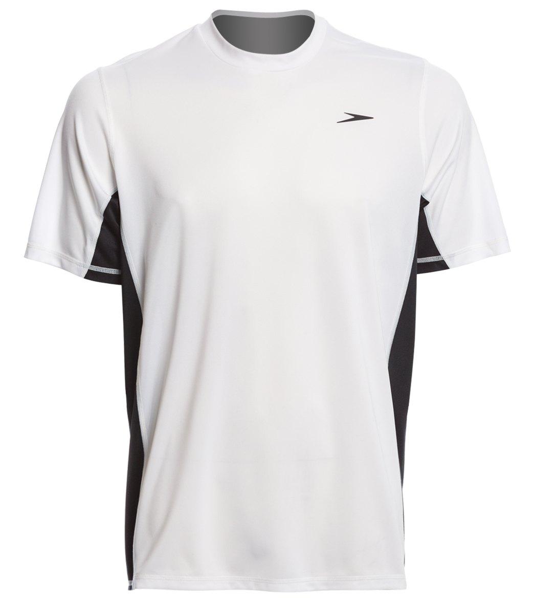 8770a5e987 Nike Men's Heather Short Sleeve Hydro Rash Guard. $23.99 - $38.00$38.00.  Speedo Men's Longview S/S Swim Tee