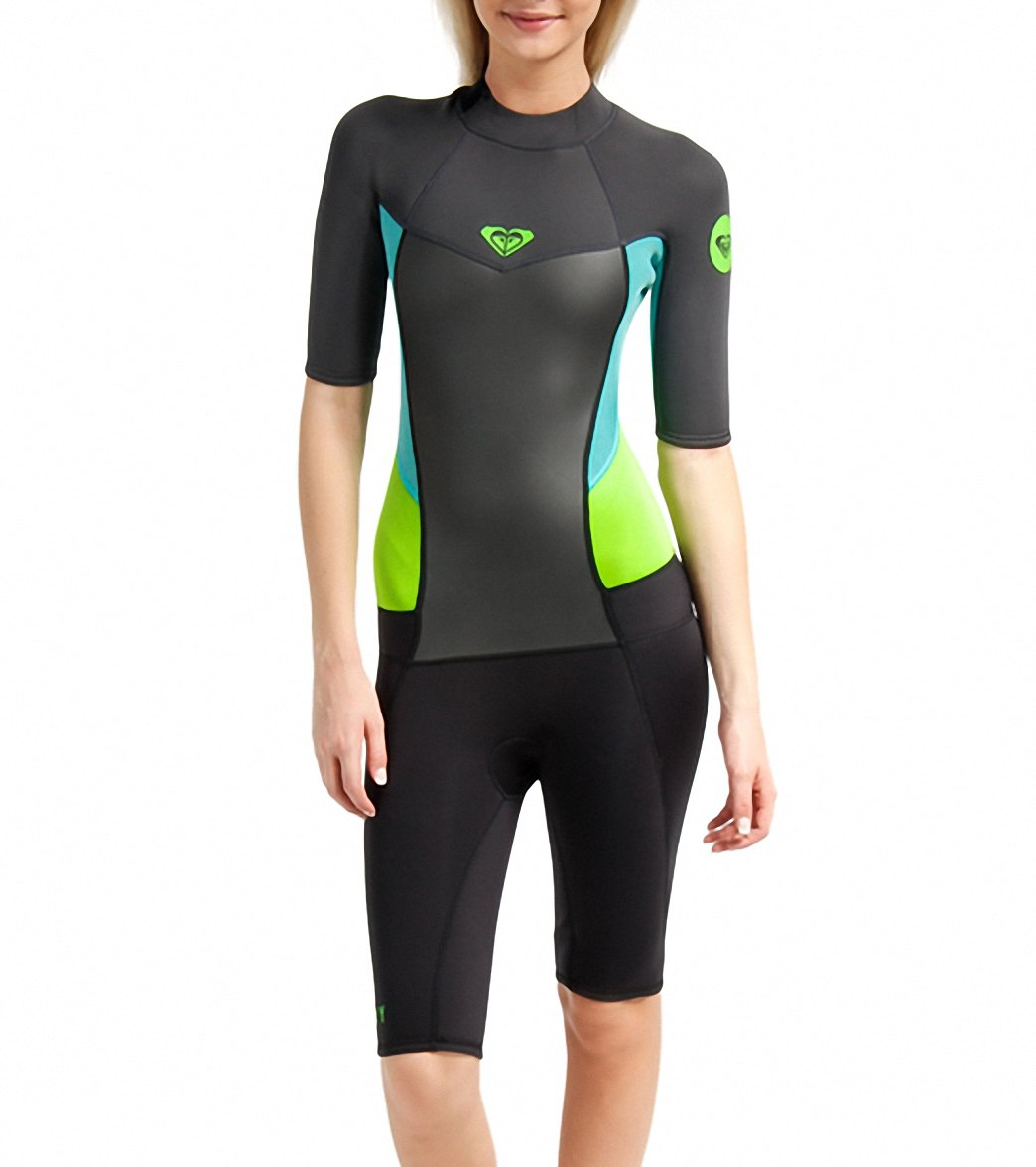 ... Roxy Women's 2/2MM Syncro Short Sleeve Back Zip Spring Suit Wetsuit  MODEL INFO Play Video. View all colors