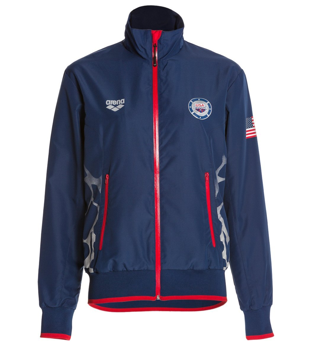 Arena USA Swimming Full Zip Jacket at SwimOutlet.com - Free Shipping