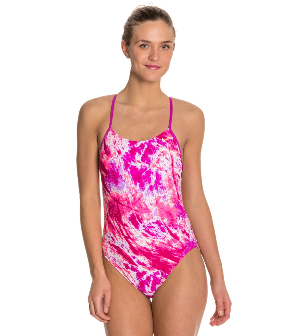 Nike Swim Acid Wash Cut Out Tank One Piece Swimsuit at SwimOutlet.com -  Free Shipping