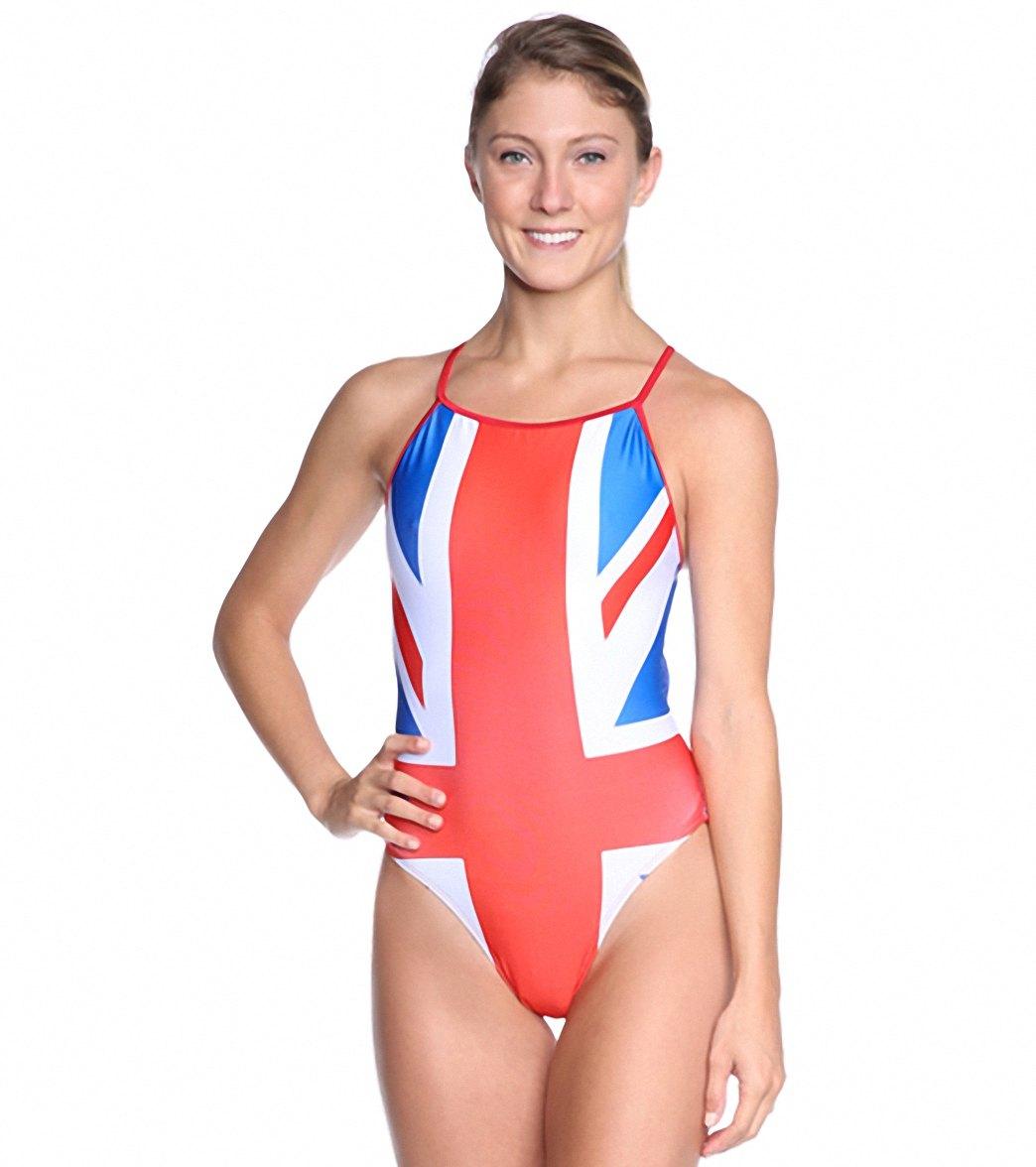 149c5fcb78aa4 Splish union jack thin strap one piece swimsuit jpg 1044x1176 Thin wet  swimsuit
