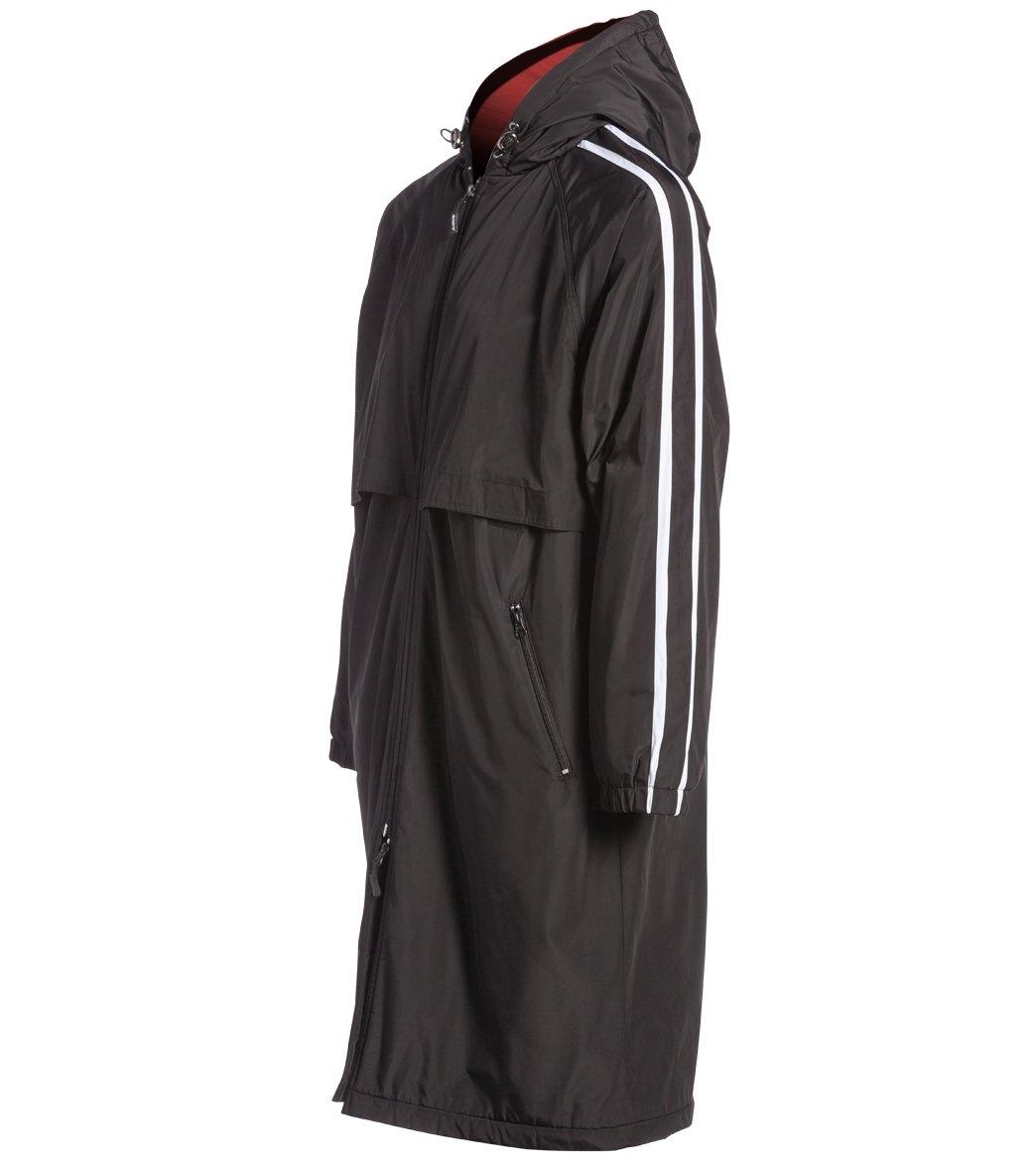 Sporti Striped Comfort Fleece-Lined Swim Parka at SwimOutlet.com ...