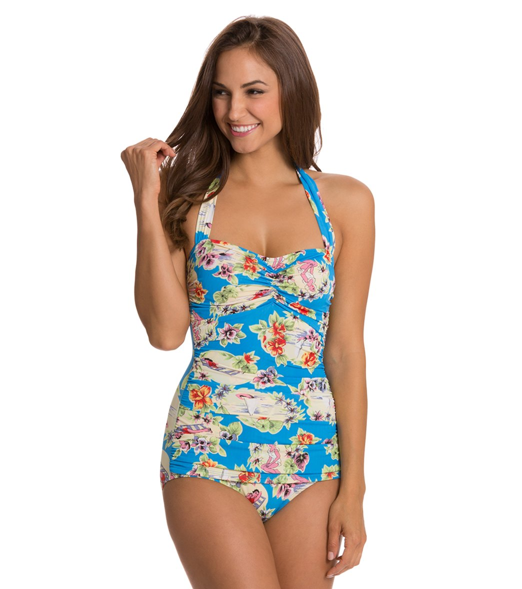 Esther Williams Swimwear - Fruity Suity One-piece Swimsuit In White - Lyst