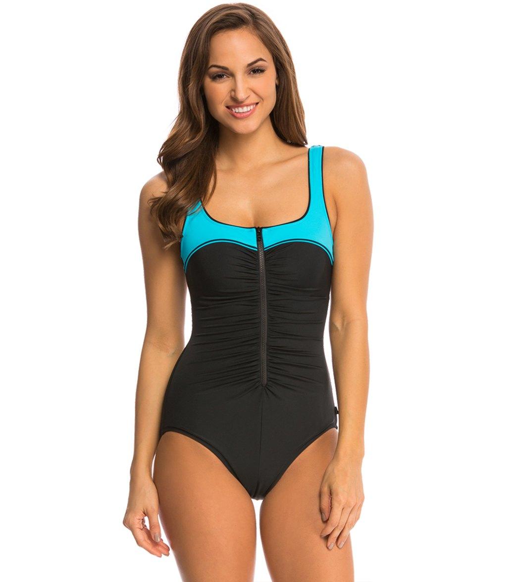 reebok pretty pleatz swimsuit