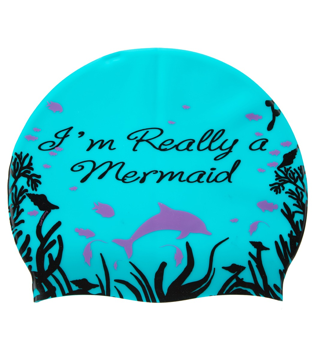 da31d78a6 Sporti I'm Really a Mermaid Silicone Swim Cap