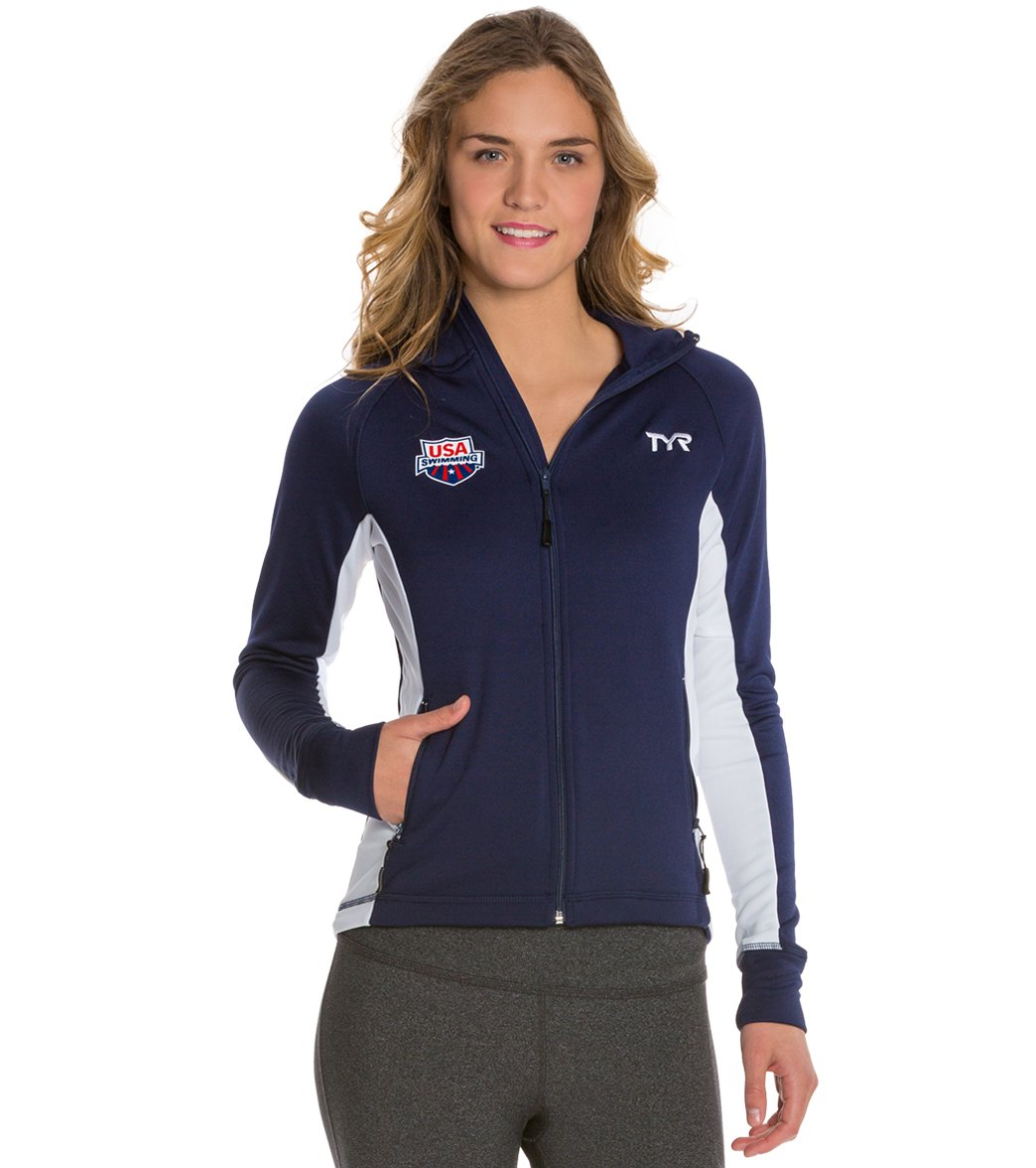 TYR USA Swimming Women's Alliance Victory Warm Up Jacket at ...