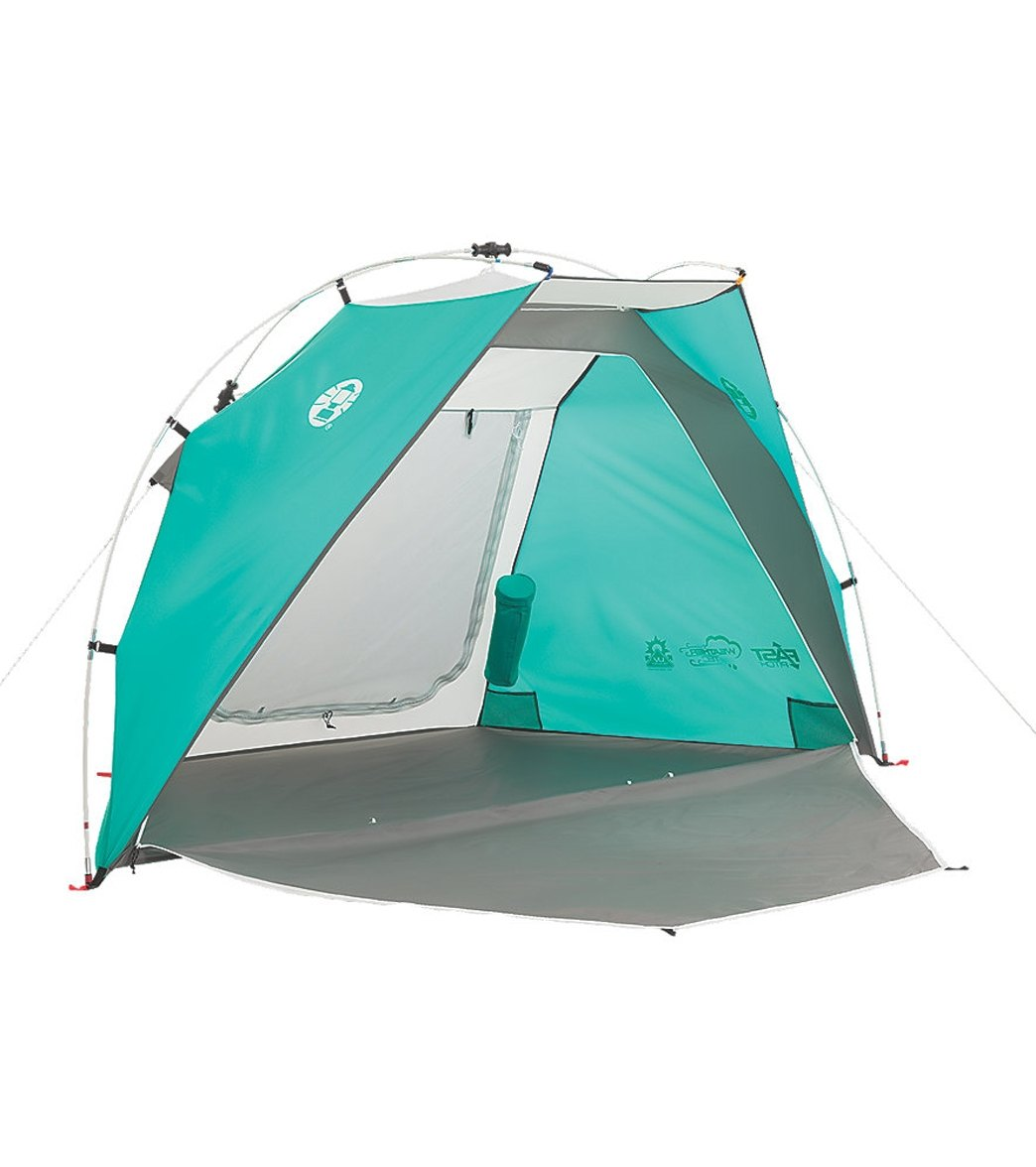 Coleman Hatteras Fast Pitch Beach Tent with Drink Sleeve at SwimOutlet.com - Free Shipping  sc 1 st  SwimOutlet.com & Coleman Hatteras Fast Pitch Beach Tent with Drink Sleeve at ...